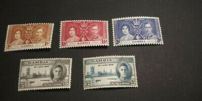 GAMBIA Stamps - Five (5) Mint Never Hinged MNH - #129-131, #144-145 - Very nice