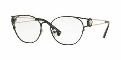 Versace Men Round Eyeglasses VE1250 1009 Black/Gold Frame Demo Customisable (Gold Versace Frames For Men)