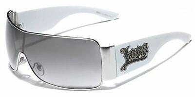 Locs White Oversized Mens Womens Haterblocker Mirror Gradient Sunglasses (Gradient Mirror Sunglasses)