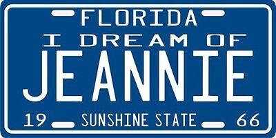I Dream of Jeannie 1966 Florida License Plate