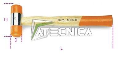 Mazzuola martello martelli mazzetta in gomma plastica Beta Tools 1390 28mm 28