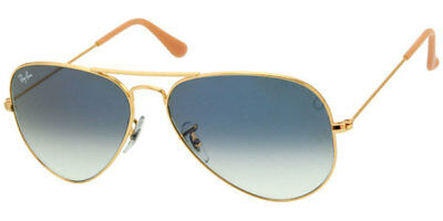 RAY-BAN WOMEN'S SMALL LIGHT BLUE GRADIENT AVIATOR RB3025 001/3F SIZE 55MM 55-14