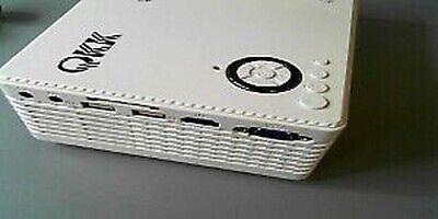 QKK PJ0431 Potable Mini Projector - White USB LED NOB