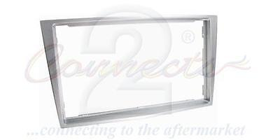 Connects2 CT24VX19 Double Din Radio Facia Vauxhall Corsa D 06 on Chrome Silver
