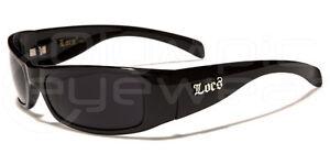 Mens LOCs All Black Hardcore Gangster Sunglasses Shades Super Dark Lenses