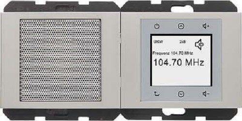 BERKER Radio Touch K1 Edelstahl matt 28807004 up-Radiomodul+Lautsprecher