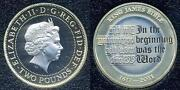 King James Bible 2 Pound Coin