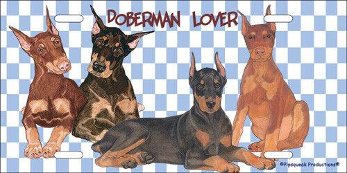 Doberman License Plate