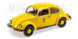 1/18 DIECAST MINICHAMPS''83 VW BEETLE 1200CC GERMAN POST YELLOW