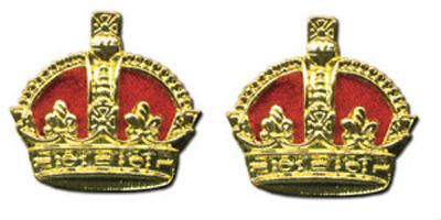 British English UK WWI WWII Officer Major Uniform Rank Pip Crown Army War Parade