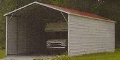 20 X 26 X 7 Carport Cover Garage With 3 Sides Free Delivery And Installation