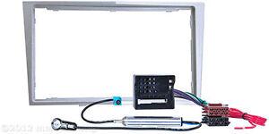 OPEL Astra H Corsa D Zafira B Radio Blende Adapter Doppel 2 DIN Einbau Rahmen