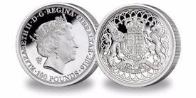 £100 silver coin 2oz