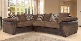Brown DFS corner sofa for sale