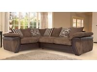 Brown DFS corner sofa for sale