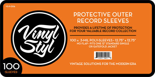 """Vinyl Styl™ 12.75"""" X 12.75"""" 3 Mil Protective Outer Record Sleeve 100CT"""
