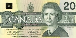 Old $5.00 & $20.00 Canadian Bank Notes/Dollar Bills!! - $10