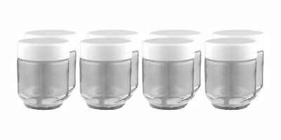 Euro Cuisine Gy1920 Glass Jars For Yogurt Maker  Set Of 8   New  Free Shipping
