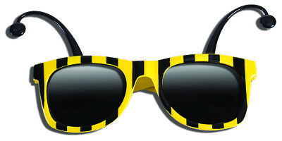 Funny BUMBLE BEE SUNGLASSES Bug Mask Child Black Yellow Stripe Antenna Insect - Bumble Bee Funny