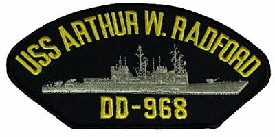 USS ARTHUR W RADFORD DD-968 PATCH USN NAVY SHIP SPRUANCE CLASS DESTROYER CRASH