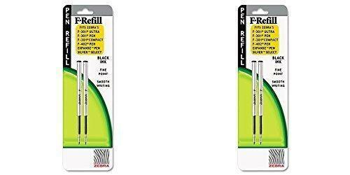 Refill for F301, F301 Ultra, F402, 301A, Spiral Ballpoint, Fine, Black, 2/Pack-2