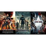 Captain America Trilogy DVD Set (First Avenger, Winter Soldier, Civil War 1 2 3)