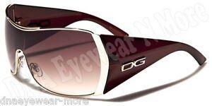 New-DG-EYEWEAR-Designer-Sunglasses-Womens-Gold-Brown-With-FREE-Pouch-DG11006