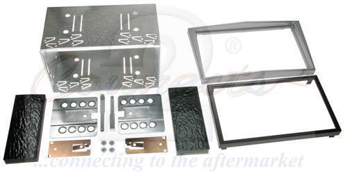 CT23VX15 Zafira 2005 on Double Din Stereo Facia Kit Chrome Metalic