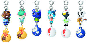 Animal Crossing Bell Danglers figure clips set of 6 K.K Slider Static GACHA NEW