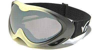 105f58a01c New Snowmobile Ski Virage 100% UV400 Goggles Black   Yellow Frame and Smoke  Lens