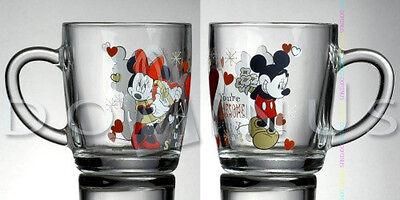 36006 DISNEY MICKEY & MINNIE Herz Love Liebe BECHER GLAS 350 ML