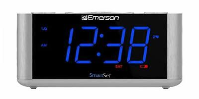 Emerson SmartSet Alarm Clock Radio USB port for iPhone/iPad/iPod/Android and ...