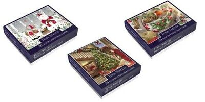 Tom Smith Pack 20 Luxury Boxed Christmas Cards Various Traditional Designs ()