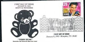 1993-Elvis-Presley-First-Day-Cover-FDC-Teddy-Bear-Memphis-Collectibles
