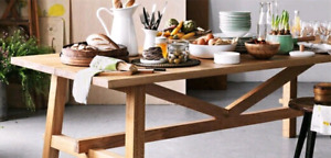 Ikea harvest table and 6 black chairs will deliver!