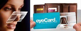 eyeCard x2 Pocket Reading Glasses CreditCard Sized +2.50 x Magnification Eyewear