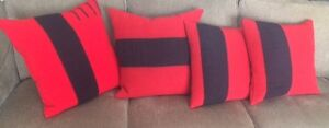 Hand made Vintage HBC blanket pillows