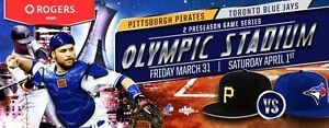 PIRATES vs BLUE JAYS x1 x2 x3 x4 >>> FRIDAY MARCH 31st 7:00PM