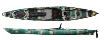 Kayak plus rod holder, used once - Moken 14