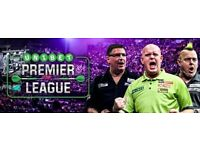 Premier League Darts Tickets Glasgow SSE Hydro 22nd March 2018- Front area table seats