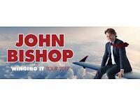 2 tickets - front row centre - John Bishop at Brighton centre