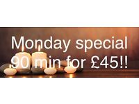 Monday special 90 min for £45!!!!SUMALEE Thai Massage Manchester