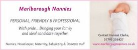 NANNY / MOTHERS HELP REQUIRED IN MARLBOROUGH, WILTSHIRE