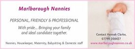 EXPERIENCED TEMPORARY NANNY REQUIRED IN ALDBOURNE, WILTSHIRE