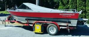 19 foot aluminum jet boat for SALE