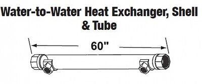 Central Boiler Water-to-water Heat Exchanger Shell Tube 60