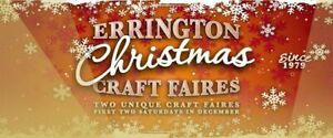 Errington Christmas Craft Faires,  Dec 7 & 14, 2019