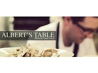 Assistant Manager – Albert's Table Restaurant (2 AA Rosette rated) – South East London