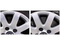 alloy wheel refurbishment, cosmetic repairs, machine polishing