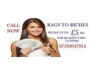 Quality Used Clothes Wanted We Pay Up To £5 A Kg Cash